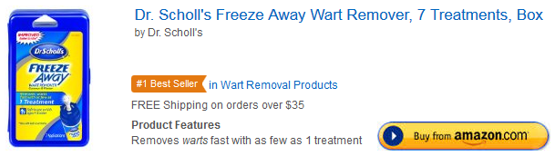 Dr Scholl Freeze Away Wart Remover at Amazon