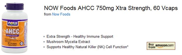 NOW Foods AHCC 750mg Amazon