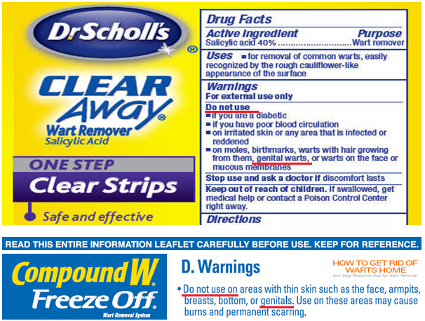 Dr Scholl Compound w Warn on Genital Warts