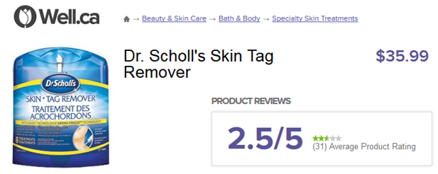skin tag removal dr scholls review Well