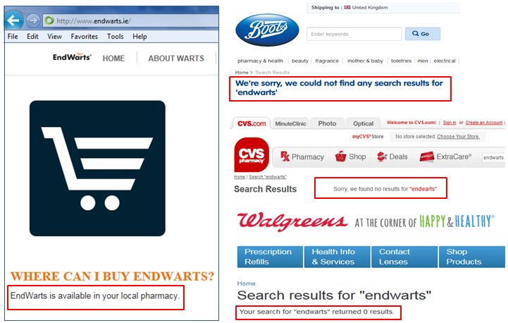 EndWarts Pen Price Boots UK CVS Walgreens