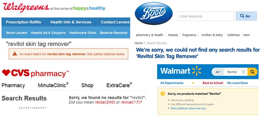 Revitol skin tag remover boots UK Walmart CVS Walgreens