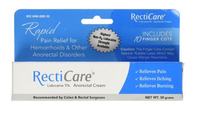 Recticare Pain Relief for Hemorrhoids